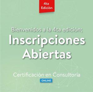 Inscripciones Abiertas Certificación en Consultoría - Formación Modalidad Online